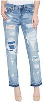 Blank NYC Distressed Denim Boyfriend with Released Hem in Looking Glass Women's Jeans