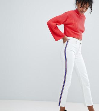 Monki Moluna Side Stripe White Jeans