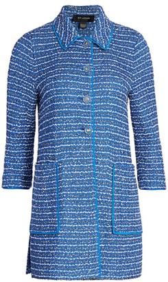 St. John Butterfly Ribbon Tweed Jacket