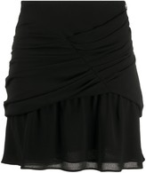 IRO gathered chiffon mini skirt