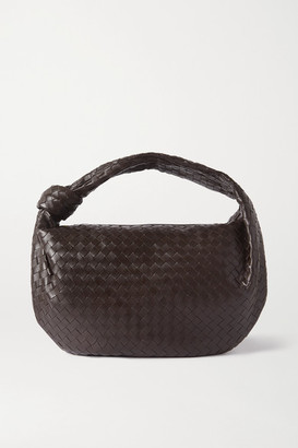 Bottega Veneta Jodie Medium Knotted Intrecciato Leather Tote - Dark brown