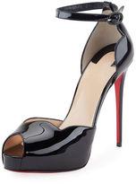 Christian Louboutin Aketata Patent Ankle-Wrap Red Sole Pump