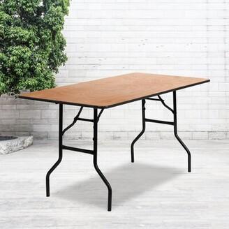 "Flash Furniture Wood 60"" Rectangular Folding Table"
