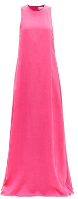 Raey Seam-detail Trapeze Maxi Dress - Fuchsia