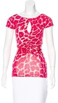 Just Cavalli Ruched Short Sleeve Top