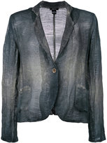 Avant Toi overdyed single breasted jacket - women - Cotton/Linen/Flax - L