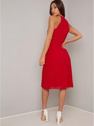 Chi Chi London Soren Dress - Red