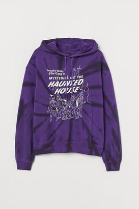 H&M Printed Hoodie - Purple