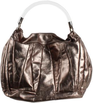 Furla Bronze Metallic Leather Shoulder Bag