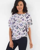 Chico's Butterfly Flutter-Sleeve Top