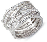 Crislu Platinum and Cubic Zirconia Entwined Ring