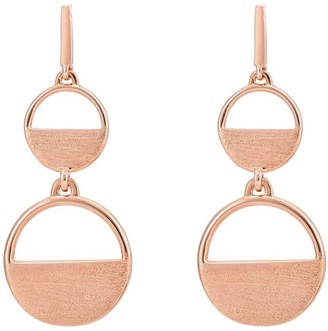 Katie Belle Neeva 18ct Rose Gold Vermeil Semi-Circle Drop Earrings