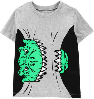 Osh Kosh Oshkosh Boys Round Neck Short Sleeve Graphic T-Shirt-Toddler