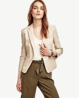 Ann Taylor Tall Textured Single Button Blazer