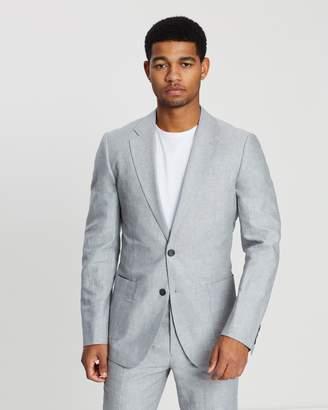 Reiss Cotton Linen Blend Slim Fit Blazer