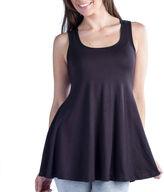 24/7 Comfort Apparel Sleeveless Tunic Knit Tank Top