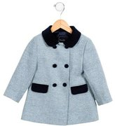 Oscar de la Renta Girls' Wool Herringbone Coat