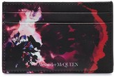 Alexander McQueen rose-print leather card holder