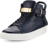 Buscemi 100mm Men's Leather High-Top Sneaker