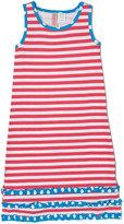 Pink & White Stripe Ruffle Maxi Dress - Infant