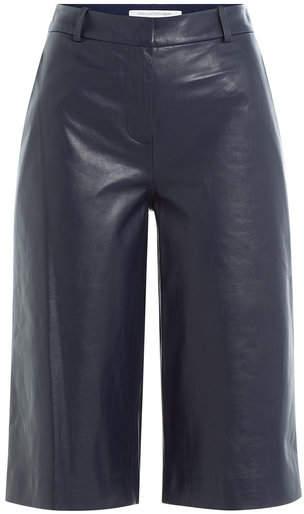 Diane von Furstenberg Leather Culottes