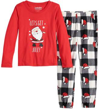 Girls 7-16 Jammies For Your Families Jolly Santa Family Tee & Pants Pajama Set