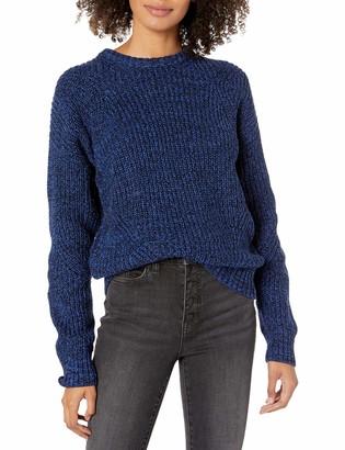 Lucky Brand Women's Marl Crew Neck Pullover Sweater