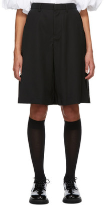 Noir Kei Ninomiya Black Wool Skirt Overlay Shorts