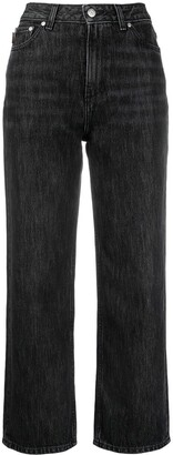 Ganni High-Waisted Cropped Jeans