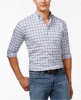 Tommy Hilfiger Big and Tall Men's Baldwin Tattersall Plaid Long-Sleeve Shirt