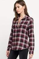 RVCA Junior's Jig 5 Long Sleeve Flannel Shirt