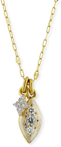 Jude Frances 18k Moroccan Double Diamond Pendant Necklace