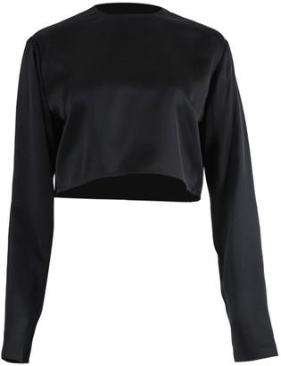 Magda Butrym Larisa Cropped Blouse Black