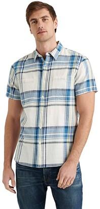 Lucky Brand Jaybird Workwear Shirt (Blue Plaid) Men's Clothing
