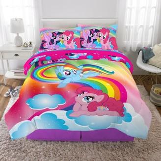 My Little Pony Kids Bed in a Bag Bedding Set, Soft Microfiber, Rainbow Dash, Pinkie Pie, Twilight Sparkle, 5-Piece Full
