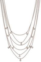 Kenneth Cole New York Multi Chain Bezel Set Drop Necklace