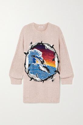 Stella McCartney - Intarsia Organic Cotton-blend Sweater - Beige