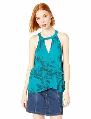 O'Neill Women's Emison Woven Wrap Halter Top