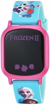 Disney Girls' Quartz Watch with Rubber Strap