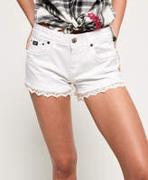 Superdry Lace Trim Hot Shorts