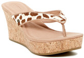 UGG Natassia Genuine Calf Hair Platform Wedge Sandal