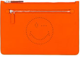 Anya Hindmarch zip clutch - women - Bos Taurus - One Size