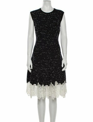 Oscar de la Renta 2015 Knee-Length Dress Wool