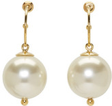 Simone Rocha Gold Pearl Drop Earrings