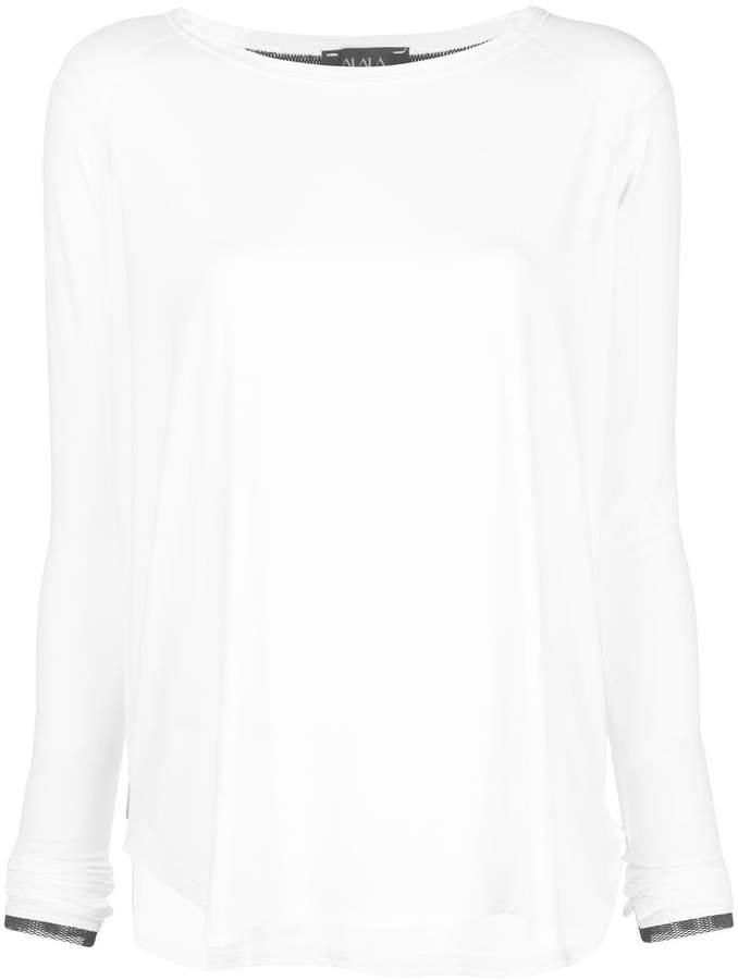 ALALA Fractal side slit detail T-shirt