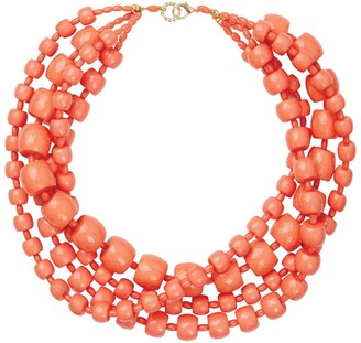 Pietrasanta Italian Multi-Strand Coral Statement Necklace