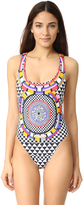 Red Carter Pop Culture Reversible One Piece