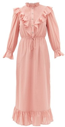 Sea Clara Ruffle-bib Cotton Dress - Womens - Pink