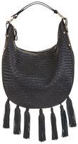 BCBGMAXAZRIA Delfina Woven Leather Tassel Hobo Bag
