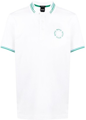 BOSS contrast logo polo shirt